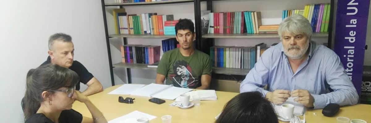 Reunión de trabajo entre Eduvim y Editorial UNC